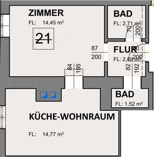 Apartment 21 Zimmerplan