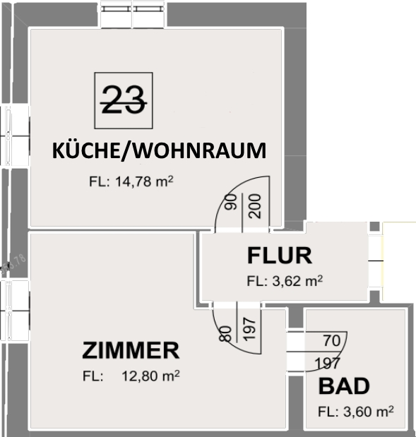 Apartment 23 - Zimmerplan