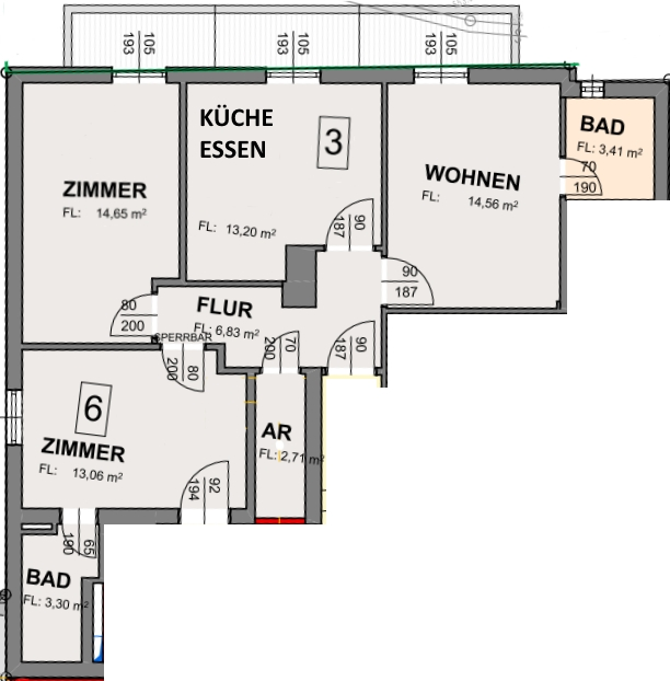 Apartment 35 - Zimmerplan